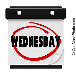 Wednesday Hump Day Wall Calencar Word Circled - The word...