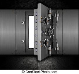 Grunge bank vault