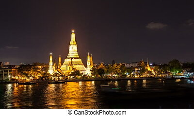 WAT ARUN TEMPLE AT NIGHT - Bangkok - Wat Arun Temple Temple...
