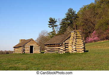 Soldiers Huts at Valley Forge - Reproductions of cabins used...