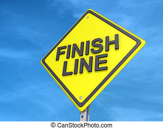 Finish Line Yield Sign - A yield road sign with Finish Line