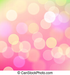 Abstract blurred pink background of holiday lights -...