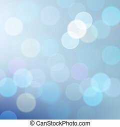 Blue defocused lights background, vector Eps10 illustration