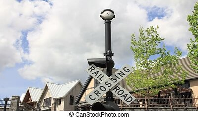 Railroad Crossing Sign Timelapse - Railroad Crossing Sign...