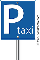Taxi parking sign