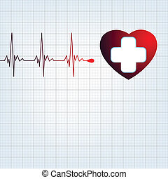 Heart medical cross EPS 8 vector file included