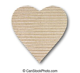 cardboard heart background - cardboard heart on white...