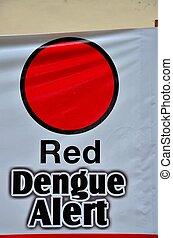 anti, dengue, fiebre, campaña, cartel