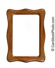 Wooden photoframe with space for your text or photo