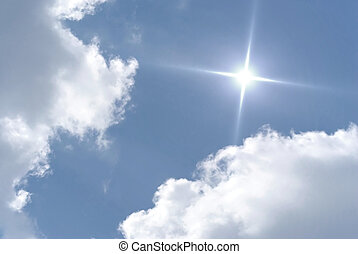 divine sky - cloudscape background with sun
