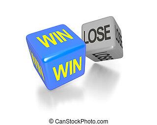 win and lose dice