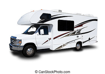 Recreational Vehicle - A Recreational Vehicle Isolated on...