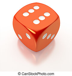 red dice - An image of an isolated red dice