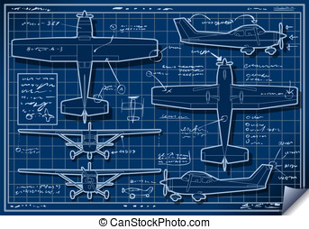 Plane Project in Five Orthogonal Views - Detailed...