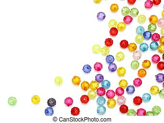 Colorful beads isolated on white background