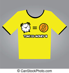 Time Is Money T-Shirt Design