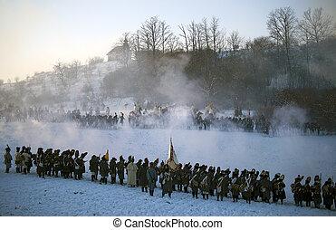 TVAROZNA, CZECH REPUBLIC - DECEMBER 4, 2010: History fan in...