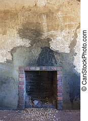 Old, Rustic Fireplace