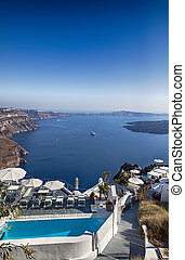 Santorini holiday resort - Image of luxury holiday resort...