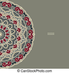 Vector Round Decorative Design Element - Colorful Round...