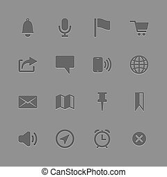 Icons collection for Mobile Applications