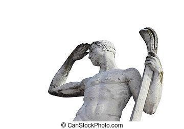 Olympic sport statue - ski