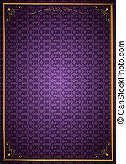 Corner patterns on purple wallpaper