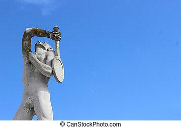 Olympic sport statue - tennis
