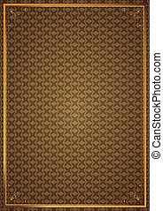 Corner patterns on brown wallpaper