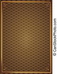 Corner patterns on brown wallpaper