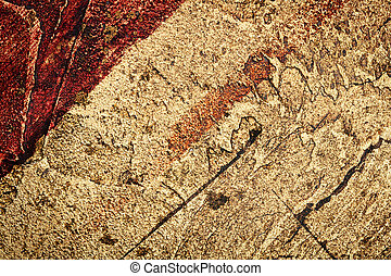 Wall decor texture - Red with golden bumpy wall stucco...