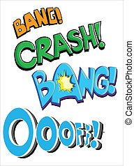 Comic Expression Vector Text