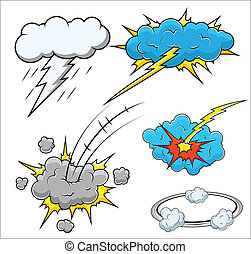 Comic Explosion Vector Illustration - Drawing Art of Cartoon...