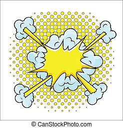 Comic Explosion Vector Illustration - Drawing Art of Comic...
