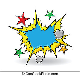 Comic Explosive Vector - Drawing Art of Comic Explosive...