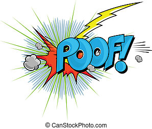 Poof - Comic Expression Vector Text - Poof - Comic...