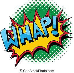 Whap - Comic Expression Vector Text