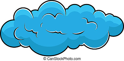 Comic Cloud - Drawing Art of Fluffy Comic Cloud Vector Shape