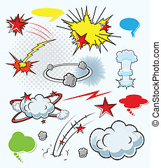 Comic Explosion Burst Vector Design - Comic Explosion Cloud...