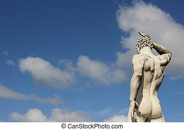 Olympique, Sport, statue, -, arrière