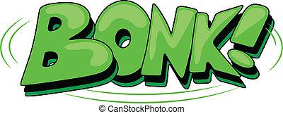 Bonk - Comic Expression Vector Text