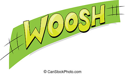 Woosh - Comic Vector Text Design - Woosh - Comic Expression...