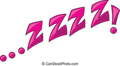 Zzzz - Comic Expression Vector Text