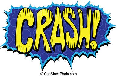 Crash - Retro Comic Vector Text