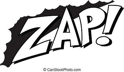 Zap - Comic Expression Retro Text - Zap - Comic Expression...