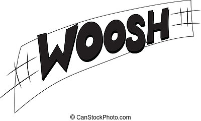 Woosh Vector Text - Drawing Art of Woosh Vector Text Comic...