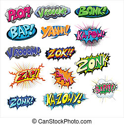 Funny Comic Expression Vector - Explosive Funny Comic...