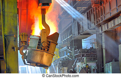 Molten hot steel - transportation of liquid metal