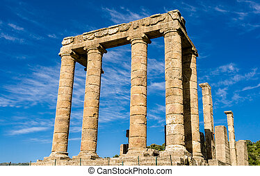 Sardinia, Antas Temple - Facade of ancient roman temple in...