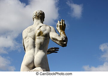 Olympic sport statue - weight throwing